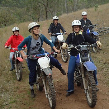 Farm Work Program: motorbike training